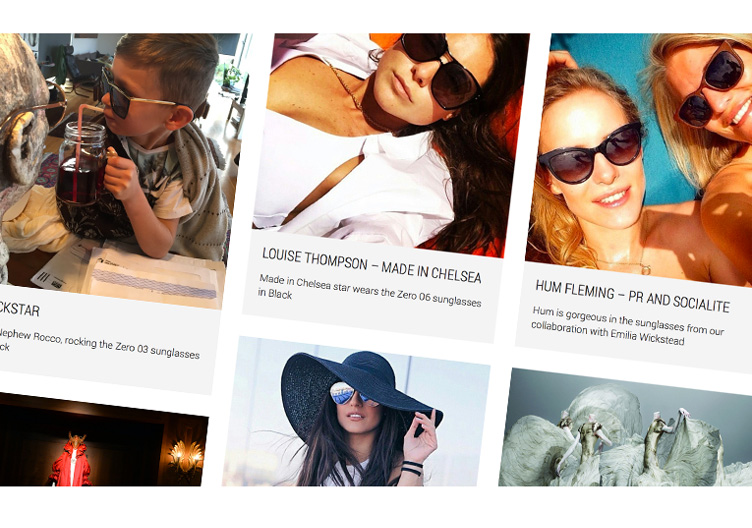 WordPress website for sunglasses retailer