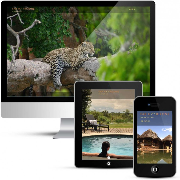 Mobile responsive web design for Far Horizons Marketing