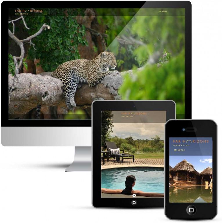 Mobile responsive web design for Far Horizons Marketing