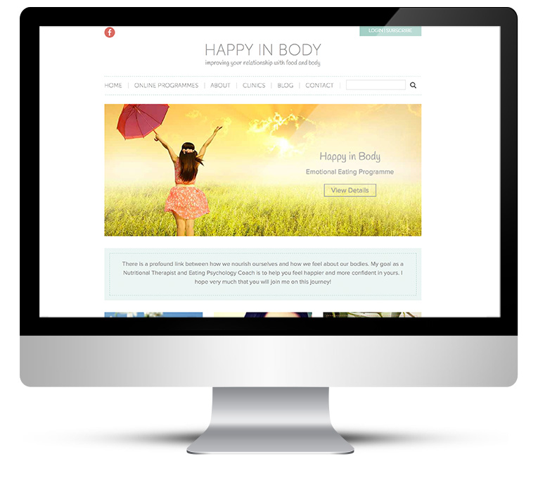 iMac view website design