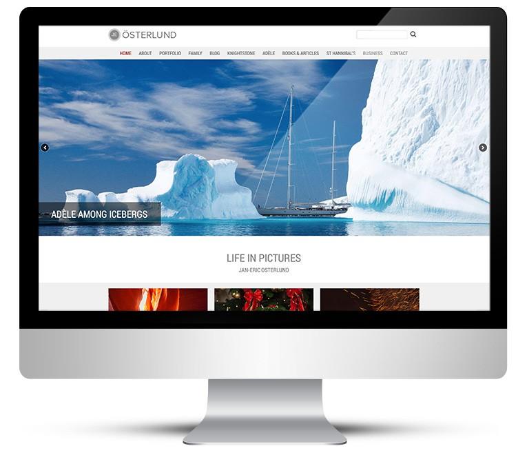 Personal photography porfolio webdesign