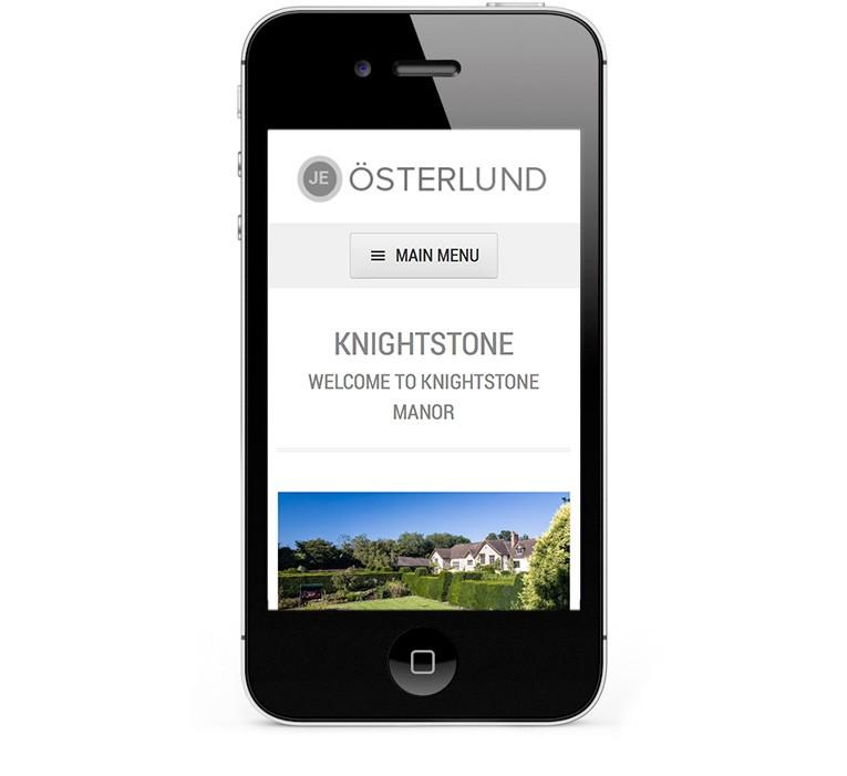 Photography portfolio website, iPhone and smartphone version