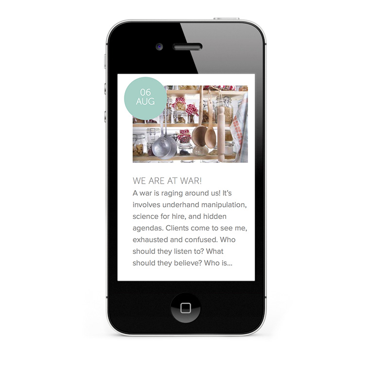 WordPress mobile responsive website
