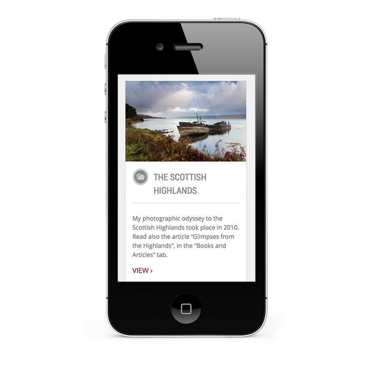 Custom WordPress design for Osterlund photography portfolio and blog
