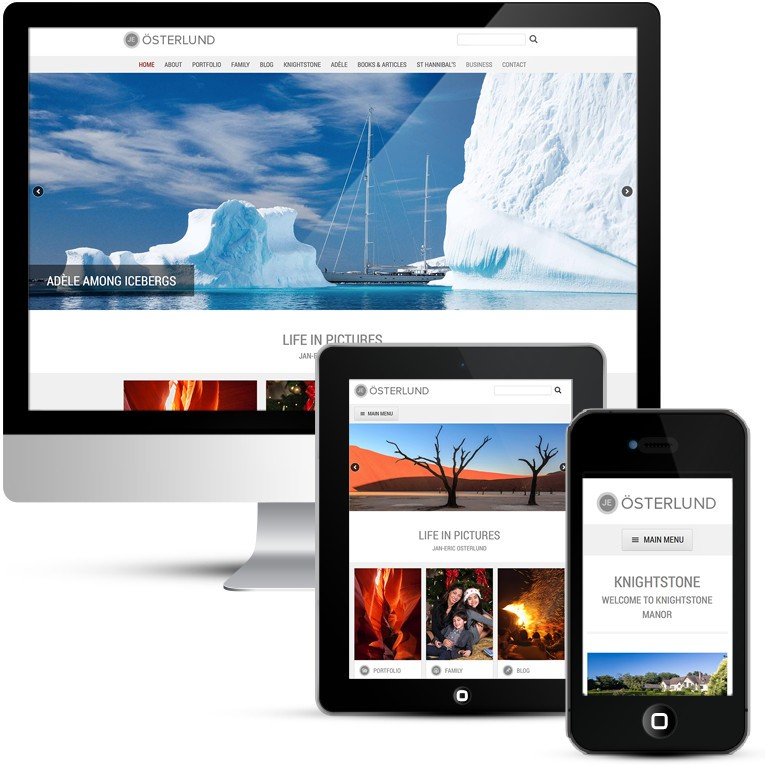 WordPress Design for personal photography portfolio