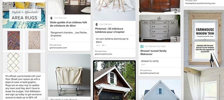 Curated lists of pins