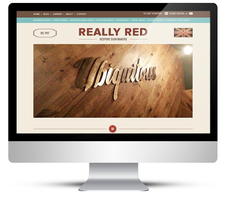 Custom WordPress Design for Bespoke Sign Makers