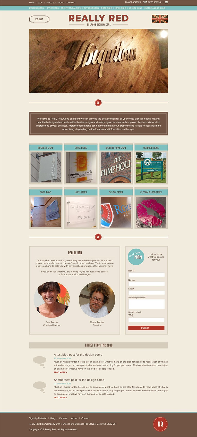 Freelance WordPress Web design for Signmakers