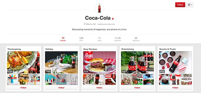Coca-Cola Profile Page