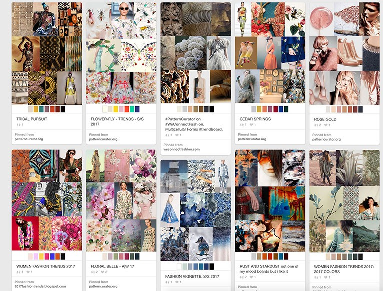 Colour boards by Pattercurator