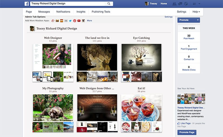 Show off Pinterest on your Facebook Page