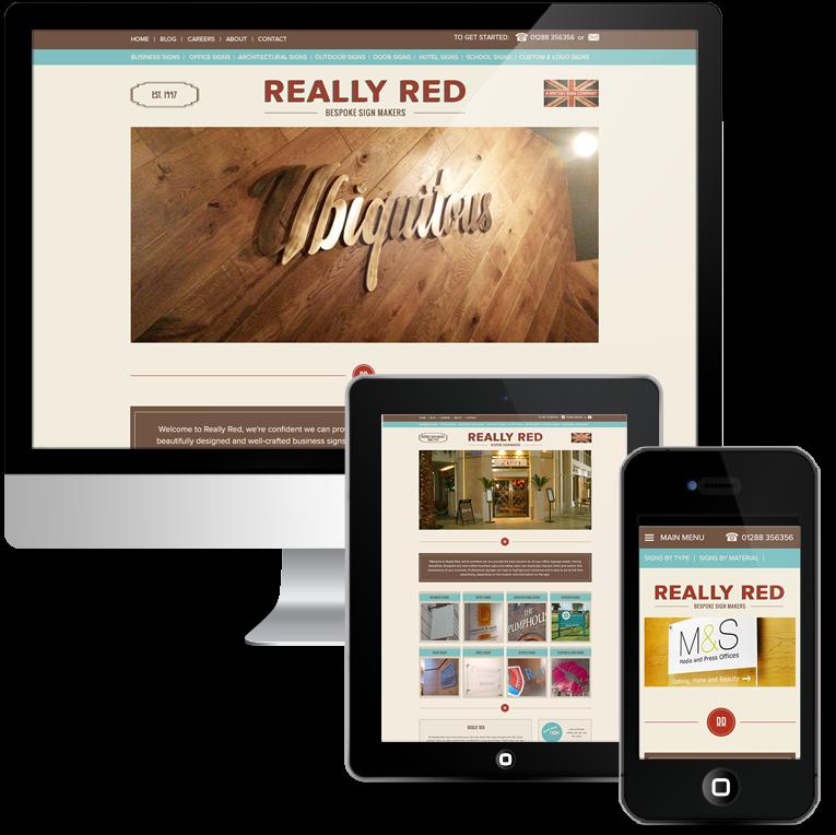 Custom WordPress Design for Really Red Signmakers
