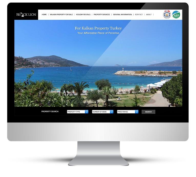 Custom WordPress Design for Black Lion Property