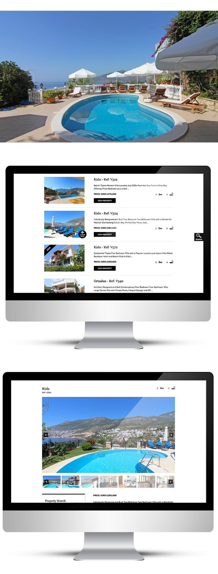 Desktop view of webdesign for Black Lion