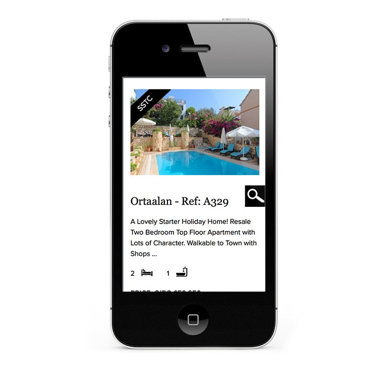 Property listings shown on iPhone and smartphone