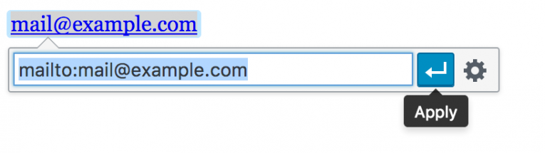 Inline link editor