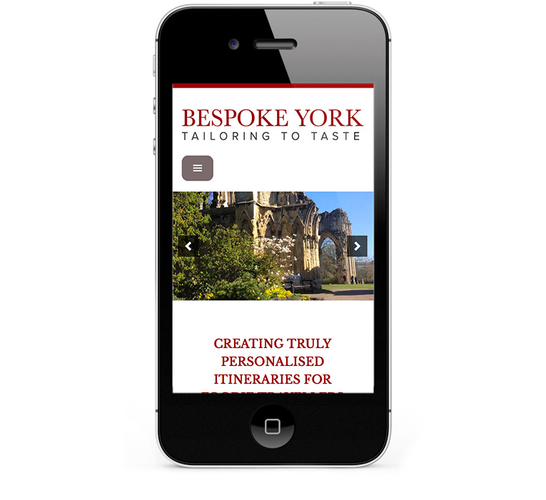 Responsive web design for iPhones and smartphones, Bespoke York