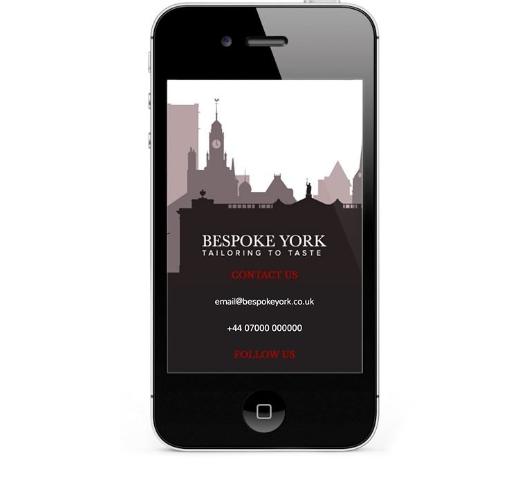 Mobile responsive web design for Bespoke York