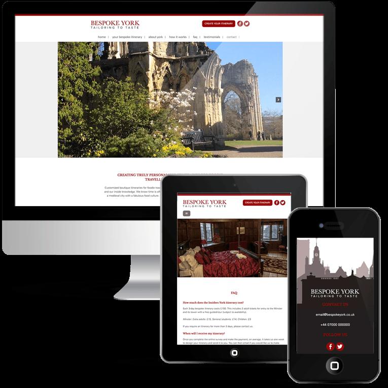 Custom WordPress web design for Bespoke York