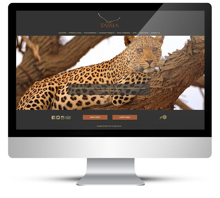 Custom WordPress Theme Design for Tassia Safaris