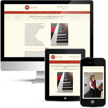 Responsive web design for Michael Spacie Music Tuition