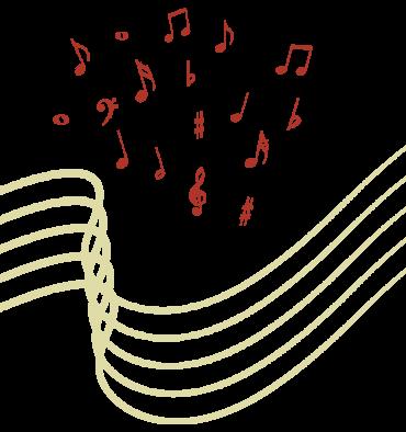 Website design element - musical notes