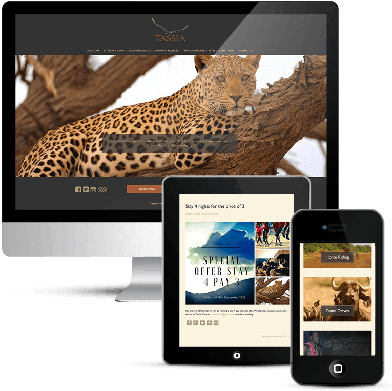 Bespoke WordPress Web Design for Tassia Safaris