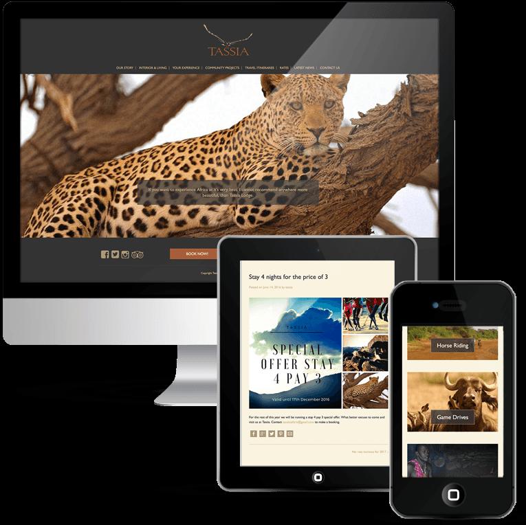 Bespoke WordPress Web Design for Tassia Safaris