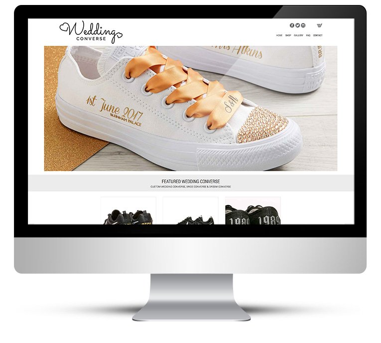 Wedding Converse Custom eCommerce WordPress Design