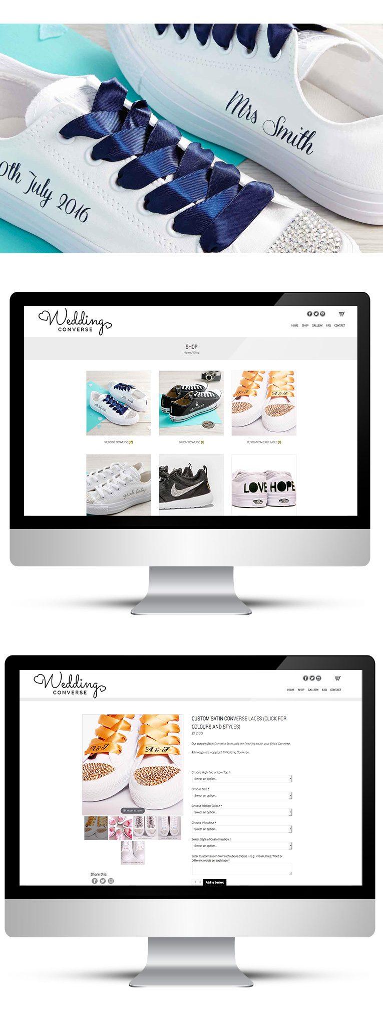 Wedding Converse WooCommerce Custom Design