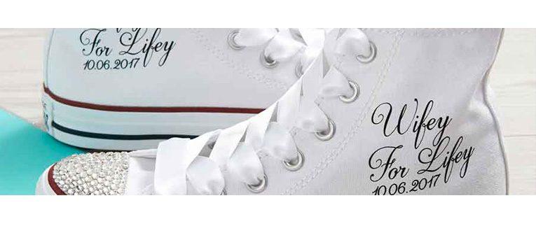 Wedding Converse Custom Trainers