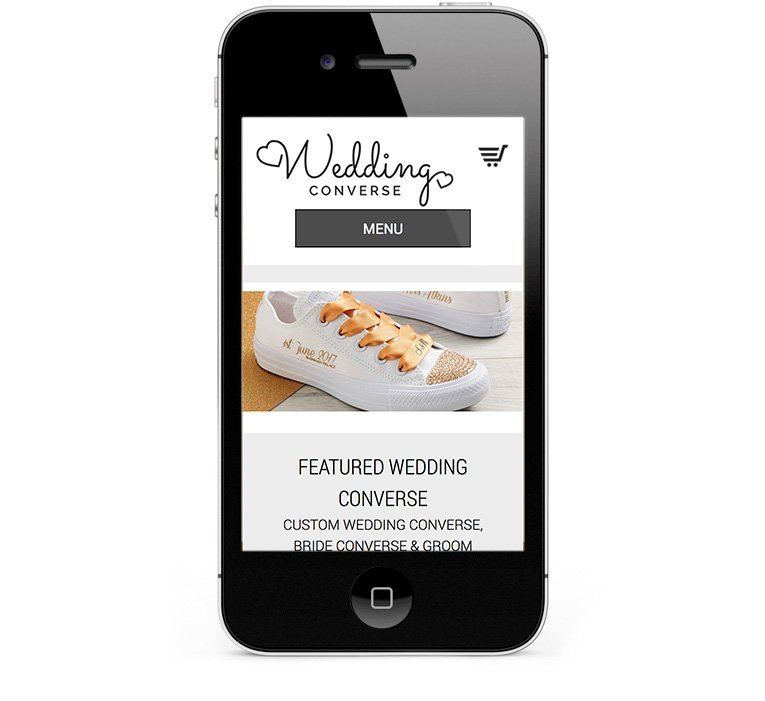 Wedding Converse eCommerce for iPhones and Smartphones
