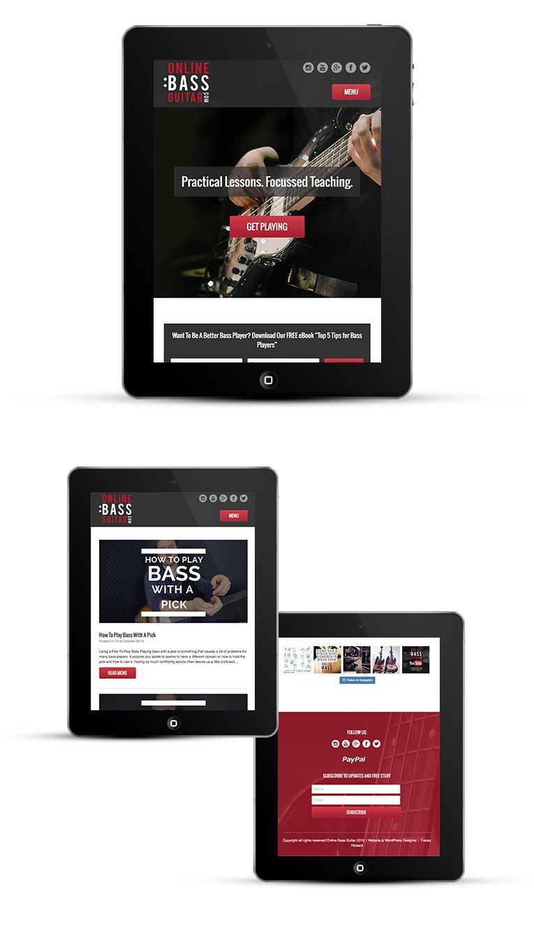 Mobile responsive WordPress theme for iPads and Tablets