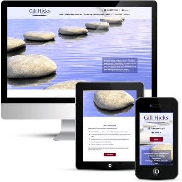 WordPress Webdesign for Gill Hicks Coaching