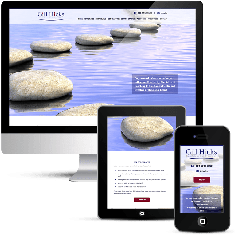 WordPress Web design for Gill Hicks Coaching