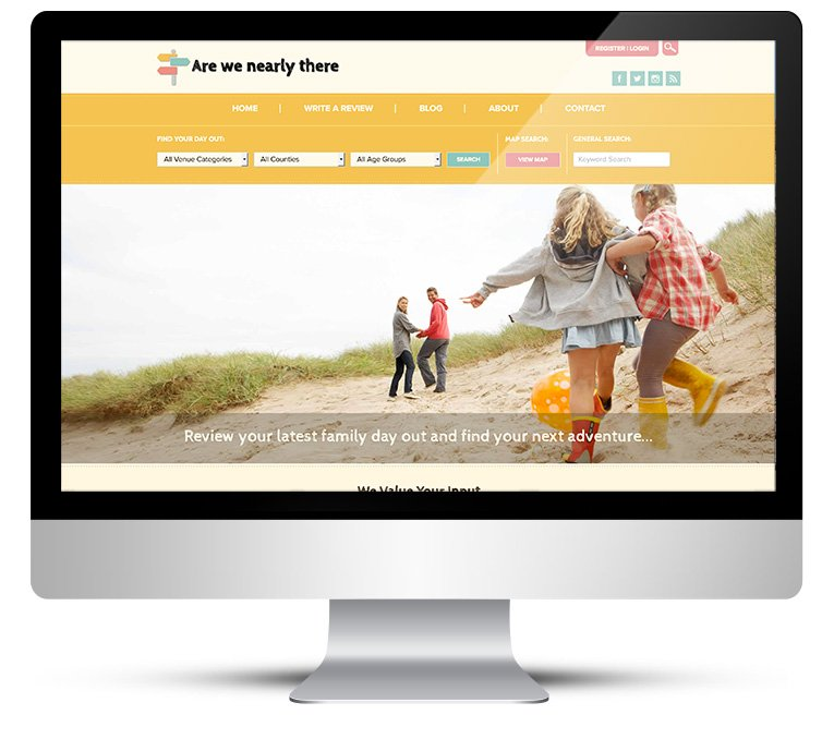 WordPress Custom Design for Are We Nearly There