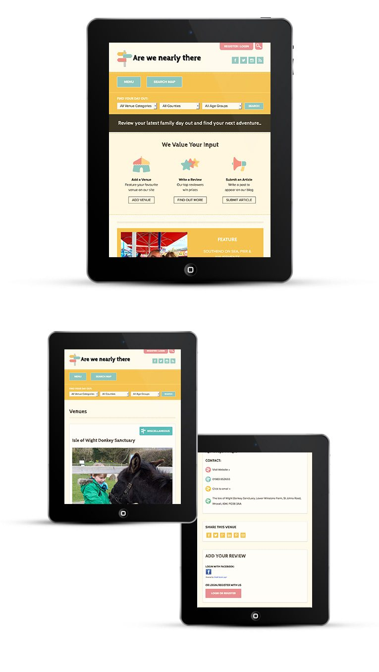 Ipad & Tablet mobile responsive design