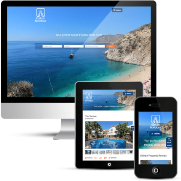 Mobile responsive website design for Kalkan Holidays