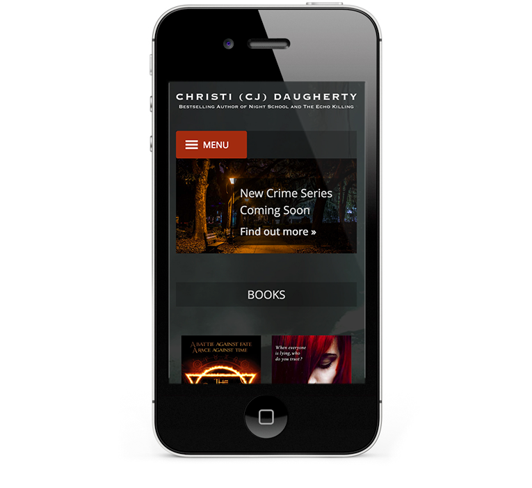 Christi Daugherty mobile responsive design for iPhones and smartphones