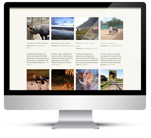 Web Design for Mukima Upmarket Safari Lodge