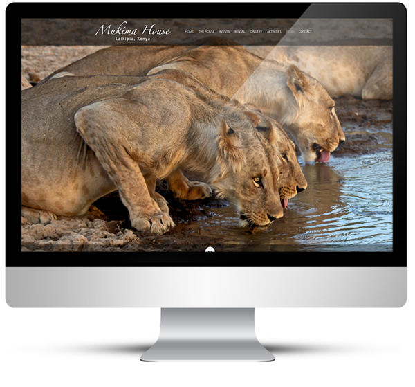WordPress Design, Safari Lodge