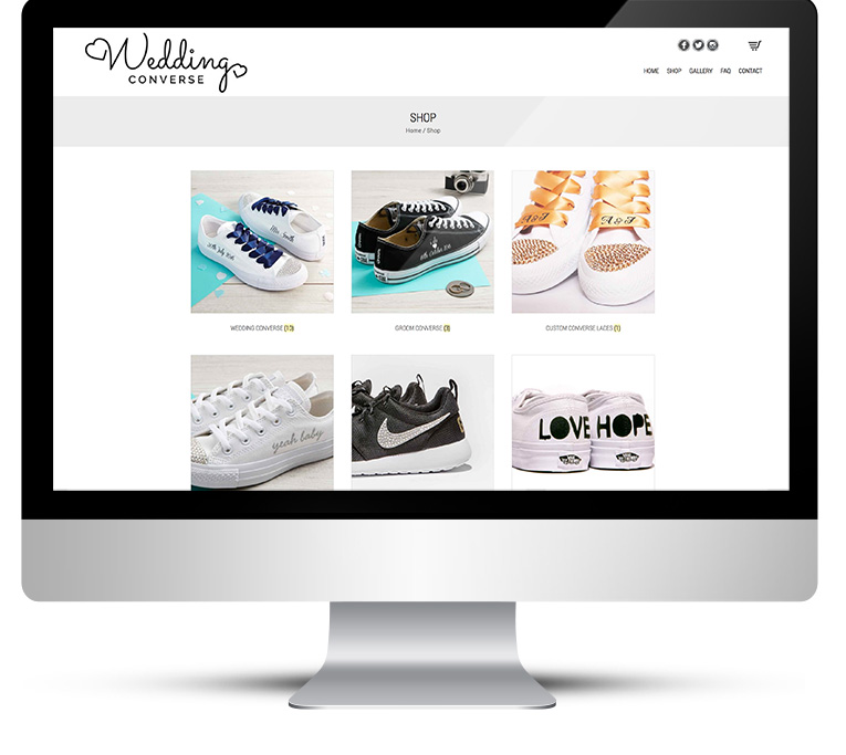 Wedding Converse Custom WordPress Design