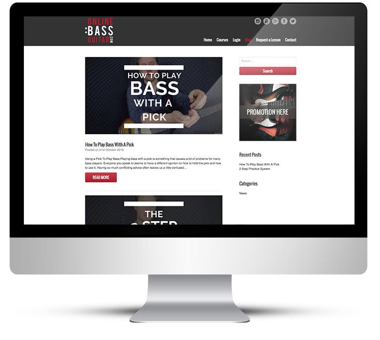 Website design, online video lessons