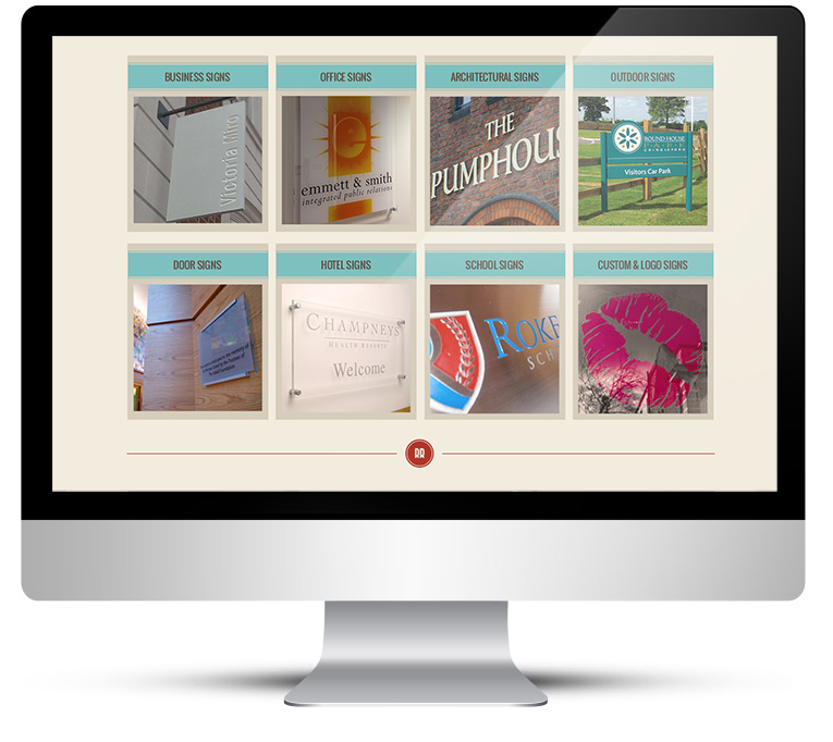 New Web design for Signmakers