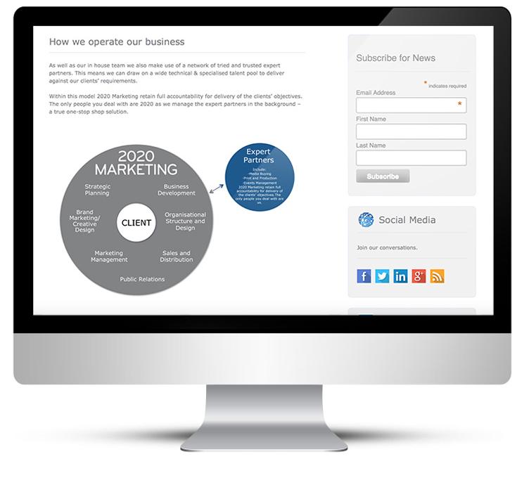 Custom WordPress theme for 2020 Marketing