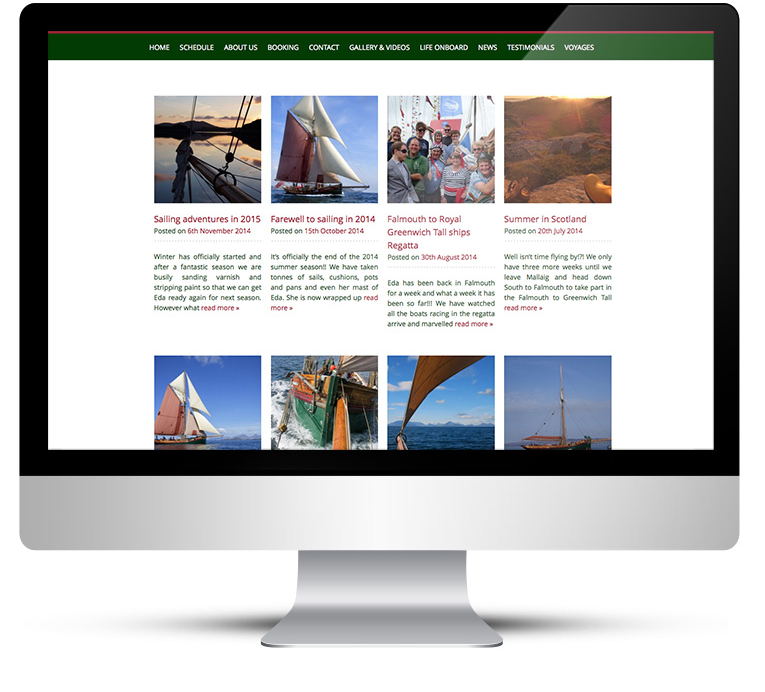 Web design and blog for Eda Frandsen Sailing