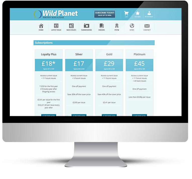 WordPress custom theme design for Wild Planet photography