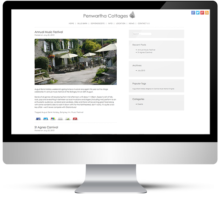 Web Design for Holiday Cottages