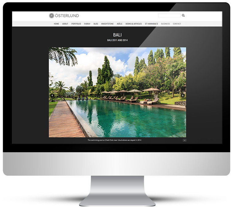 Fully responsive custom wordpress design - personal photography portfolio