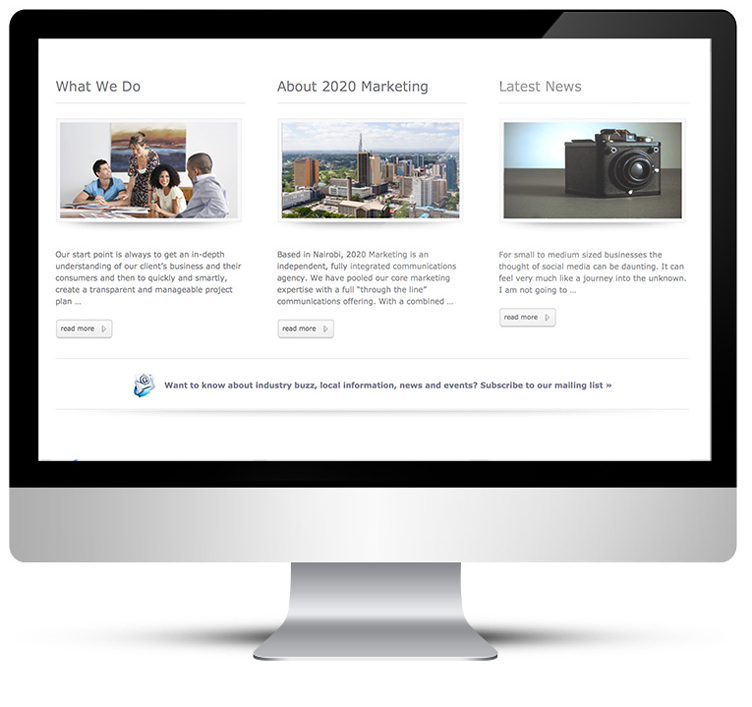 Web Design for Marketing Agency, Freelance web designer Stratford upon Avon